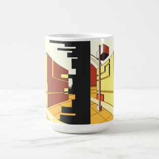 abstract architecture coffee mug