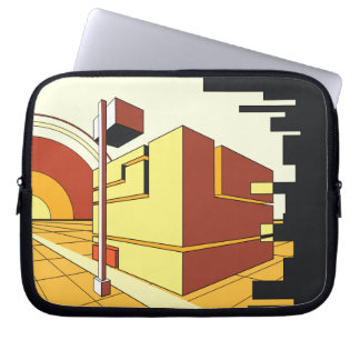 abstract architecture laptop sleeves
