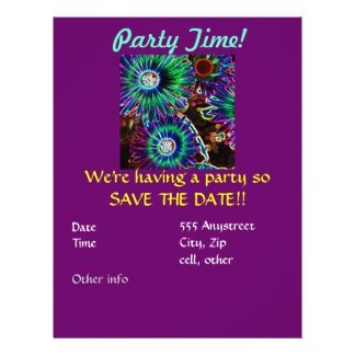 Abstract Arican Daisy party invitation Flyer
