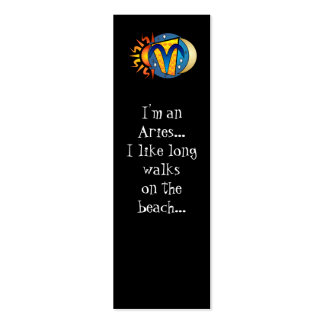 Abstract Aries Bookmarks Double-Sided Mini Business Cards (Pack Of 20)