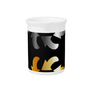 Abstract arrows design element drink pitcher