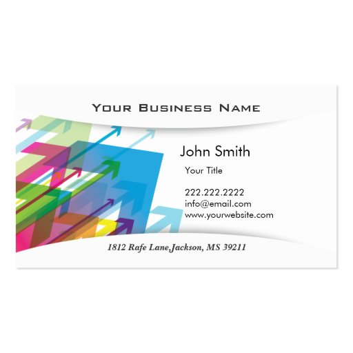 Abstract Arrows Flying Business Card