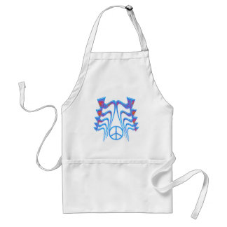 ABSTRACT ARROWS & PEACE SIGN ADULT APRON