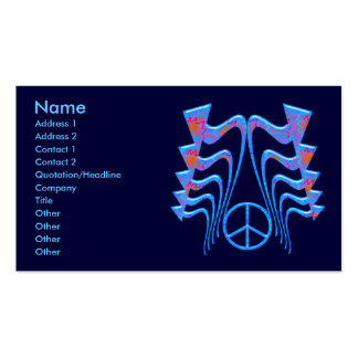 ABSTRACT ARROWS & PEACE SIGN BUSINESS CARDS