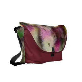 Abstract art 03 original digital painting flowers messenger bag