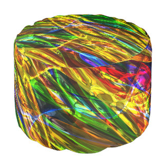 Abstract Art 143 Round Pouf