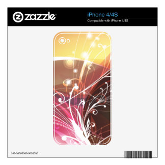 Abstract Art 15 Phone Skin Decals For iPhone 4S