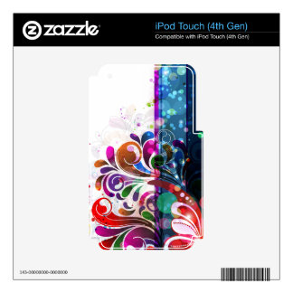 Abstract Art 16 MP3 Player Skin Decals For iPod Touch 4G