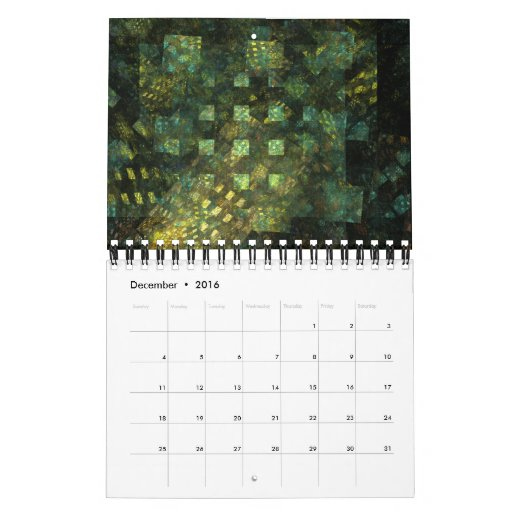 Calendar Abstract Art : Abstract art fine calendar small zazzle