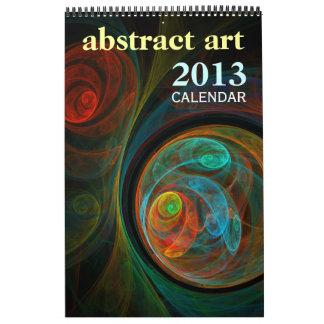 Abstract Art 2013 Fine Art Calendar (Standard)