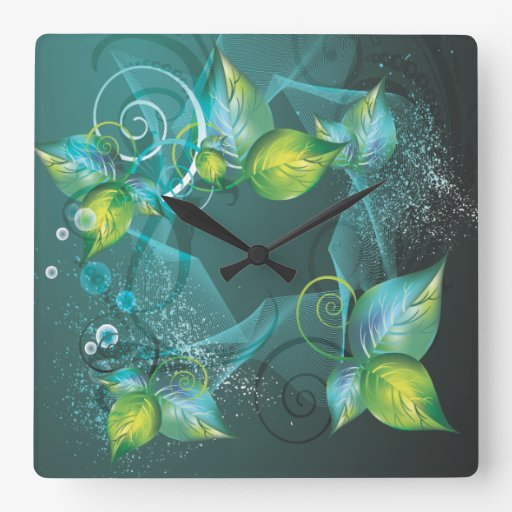 Abstract Art 24 Clock