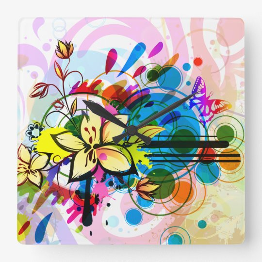 Abstract Art 26 Clock