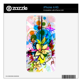 Abstract Art 26 Phone Skin Decal For The iPhone 4S