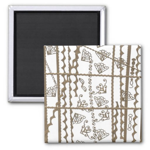 Abstract Art 2 Inch Square Magnet