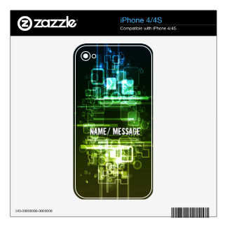 Abstract Art 32 Phone Skin Decal For iPhone 4S