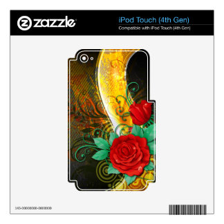 Abstract Art 41 MP3 Player Skin Decals For iPod Touch 4G