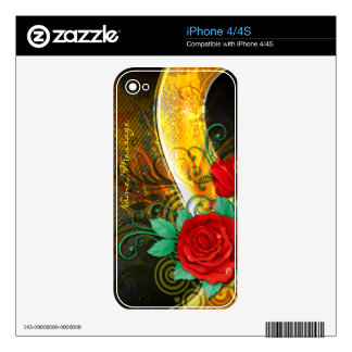 Abstract Art 41 Phone Skin iPhone 4 Decals