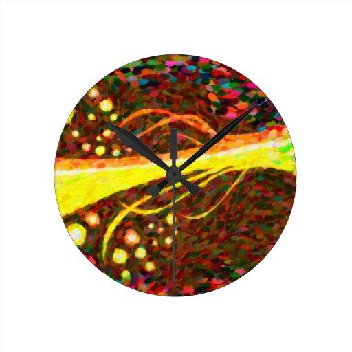 abstract  art 4 wallclocks
