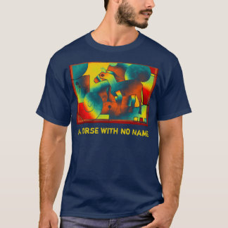 Abstract ART - A HORSE - blue red yellow T-Shirt