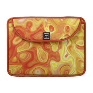Abstract Art Amoeba Orange and Yellow Bands MacBook Pro Sleeve