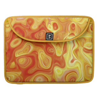 Abstract Art Amoeba Orange and Yellow Bands Sleeve For MacBook Pro