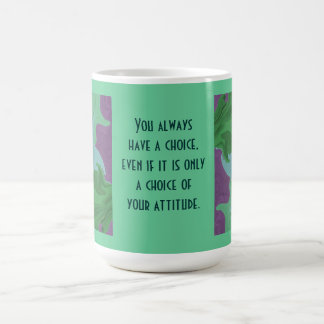 abstract art and attitude classic white coffee mug