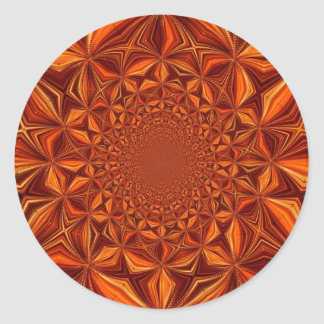 Abstract Art and Design Classic Round Sticker