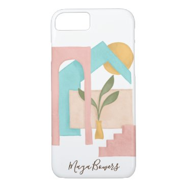 Abstract Art Architecture Illustration Modern iPhone 8/7 Case