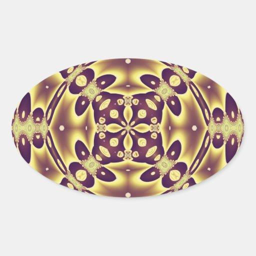 Abstract Art Autumn Mirrors Oval Sticker