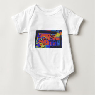 Abstract Art | Barbed Wire Baby Bodysuit