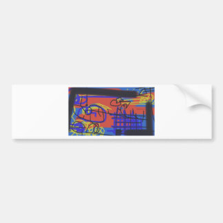 Abstract Art | Barbed Wire Car Bumper Sticker