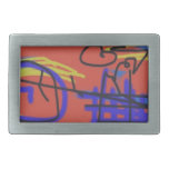Abstract Art | Barbed Wire Rectangular Belt Buckle