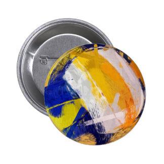 Abstract Art Beach Volleyball Button