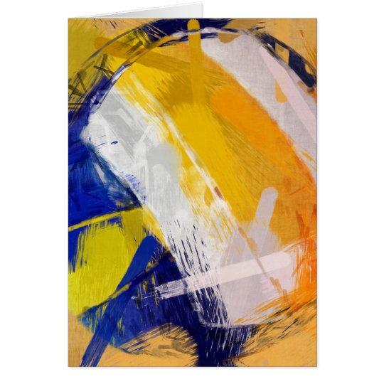 Abstract Art Beach Volleyball Card