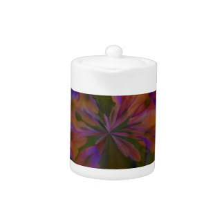 Abstract art beautiful design teapot