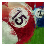Abstract Art Billiards 15 2 Posters