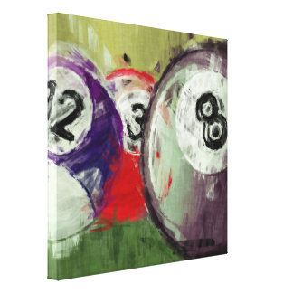 Abstract Art Billiards Canvas Print