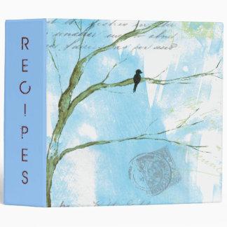 Abstract Art Bird In Tree Recipes Journal Photos 3 Ring Binder