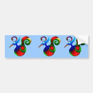 Abstract Art Bird of Paradise. Beautiful Bumper Sticker