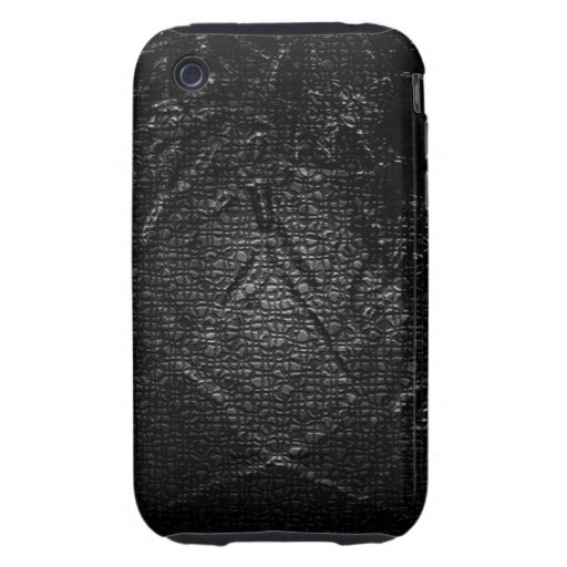 Abstract Art Black Scales iPhone 3 Tough Covers