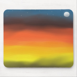 Abstract art Blazing Night Mouse Pad