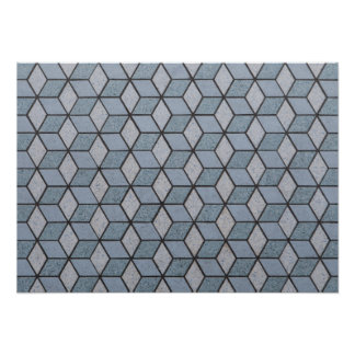 Abstract Art Blocks Background Poster