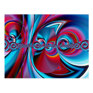 abstract art blue and red created by Tutti Postcard