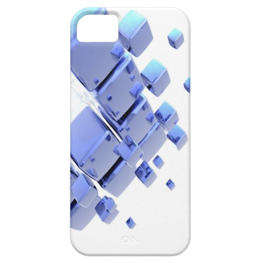 Abstract Art ( Blue Cube )  Iphone 4 Case