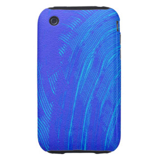 Abstract Art Blue Escape Tough iPhone 3 Cover