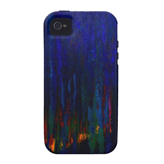 Abstract Art Blue Fire Colorful Art Case-Mate iPhone 4 Case