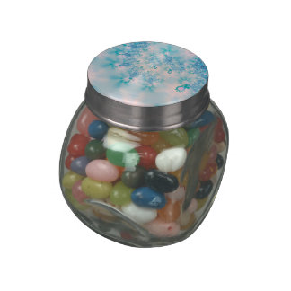 Abstract Art Blue Meditation Glass Candy Jars