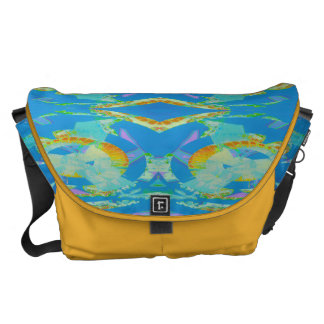 Abstract Art Blue Orange Green Courier Bag