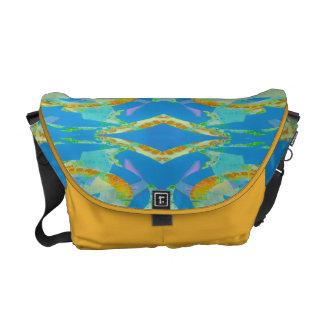 Abstract Art Blue Orange Green Messenger Bag