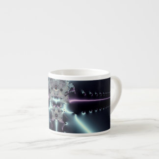 Abstract Art Blue Star Espresso Cup